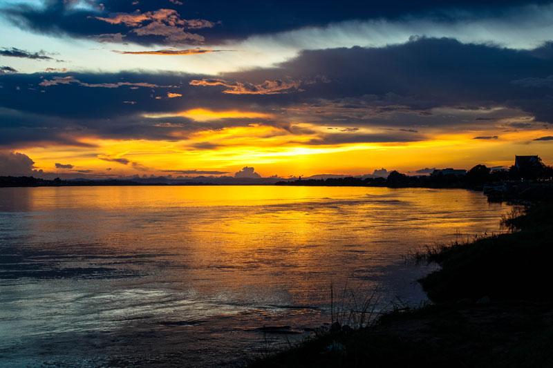 Sonnenuntergang in Vientiane - Laos