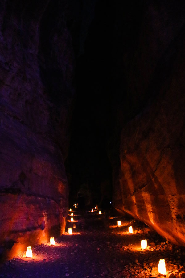 Petra by night - Jordanien